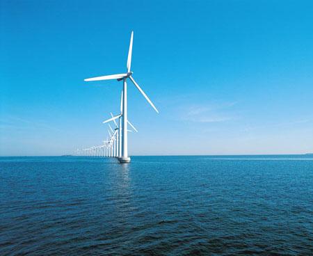 2010年7月6日我国第一个海上风电唱—上海东海大桥10万千瓦海上风电场